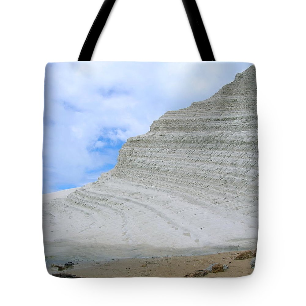 Limestone Tote Bag featuring the photograph Limestone Cliffs by Stefania Levi
