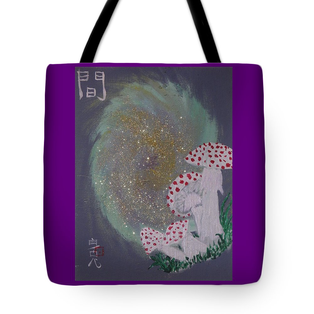 Mushrooms Tote Bag featuring the painting Liminal Space by White Rabbit