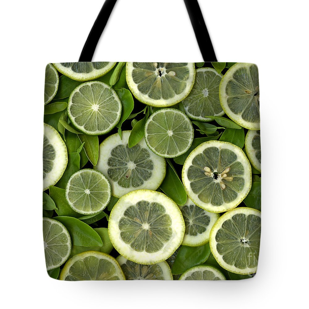 Scanography. Slanec Tote Bag featuring the photograph Limons by Christian Slanec