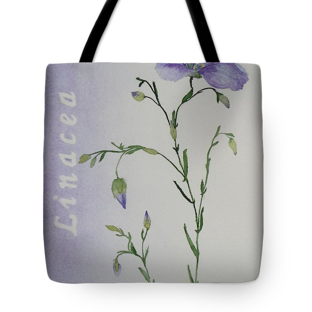 Flower Tote Bag featuring the painting Linacea by Ruth Kamenev