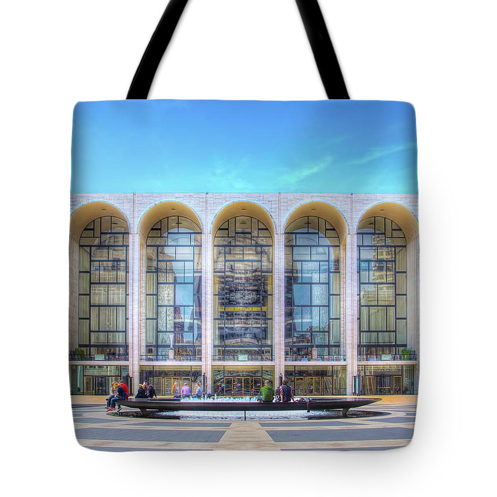 Lincoln Center Tote Bag featuring the photograph Lincoln Center by Mark Andrew Thomas