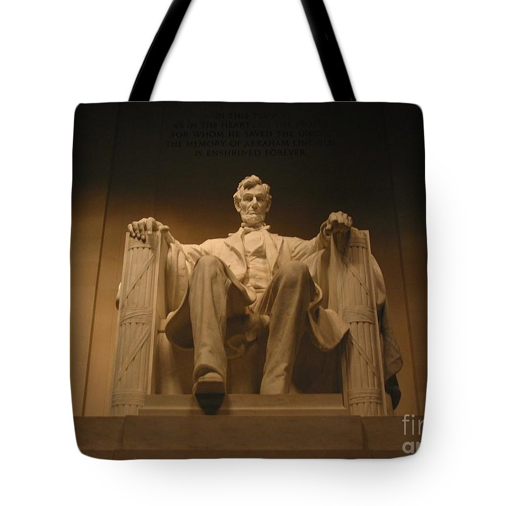 Abraham Lincoln Tote Bag featuring the photograph Lincoln Memorial by Brian McDunn
