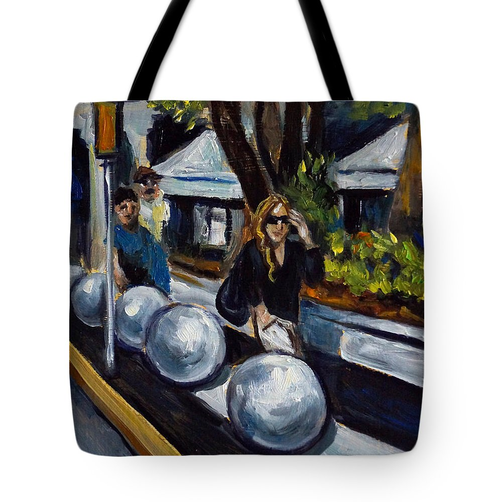 Shopping Tote Bag featuring the painting Lincoln Road by Valerie Vescovi