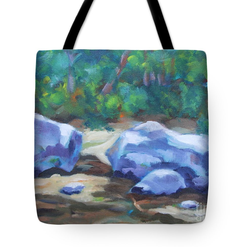Expressionist Landscape Tote Bag featuring the painting Lindenlure by Jan Bennicoff