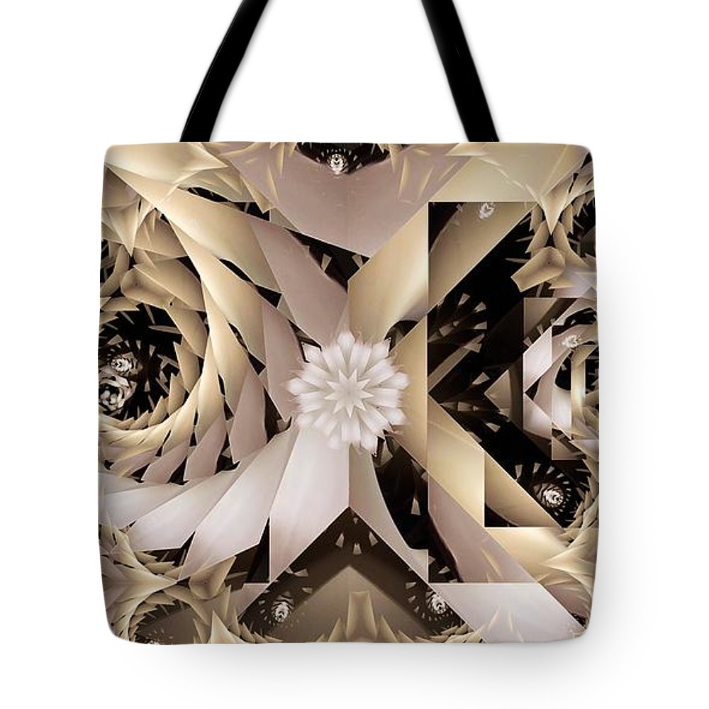 Abstract Tote Bag featuring the digital art Linen and Silk by Ron Bissett