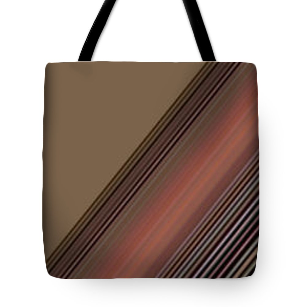 Abstract Tote Bag featuring the digital art Lines Abstract by Lenore Senior