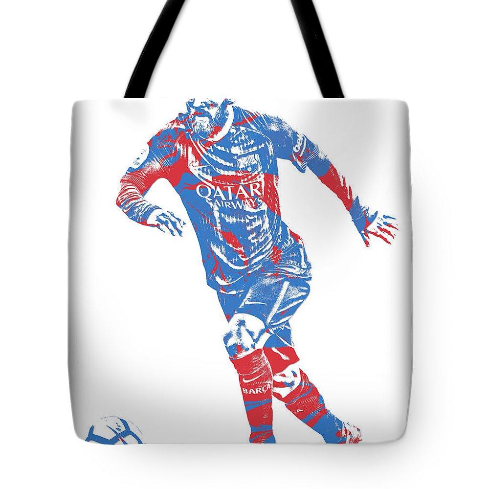 957599dbd26 Lionel Messi F C Barcelona Argentina Pixel Art 1 Tote Bag for Sale by Joe  Hamilton