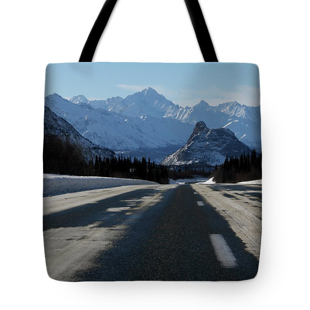Road Tote Bag featuring the photograph Lions Head by Chris Christensen