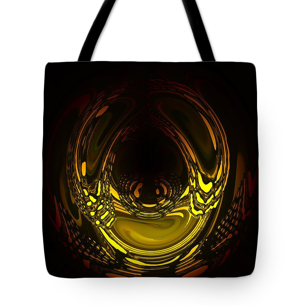 Art Tote Bag featuring the digital art Liquid Aurora 2 by Andrea Lawrence