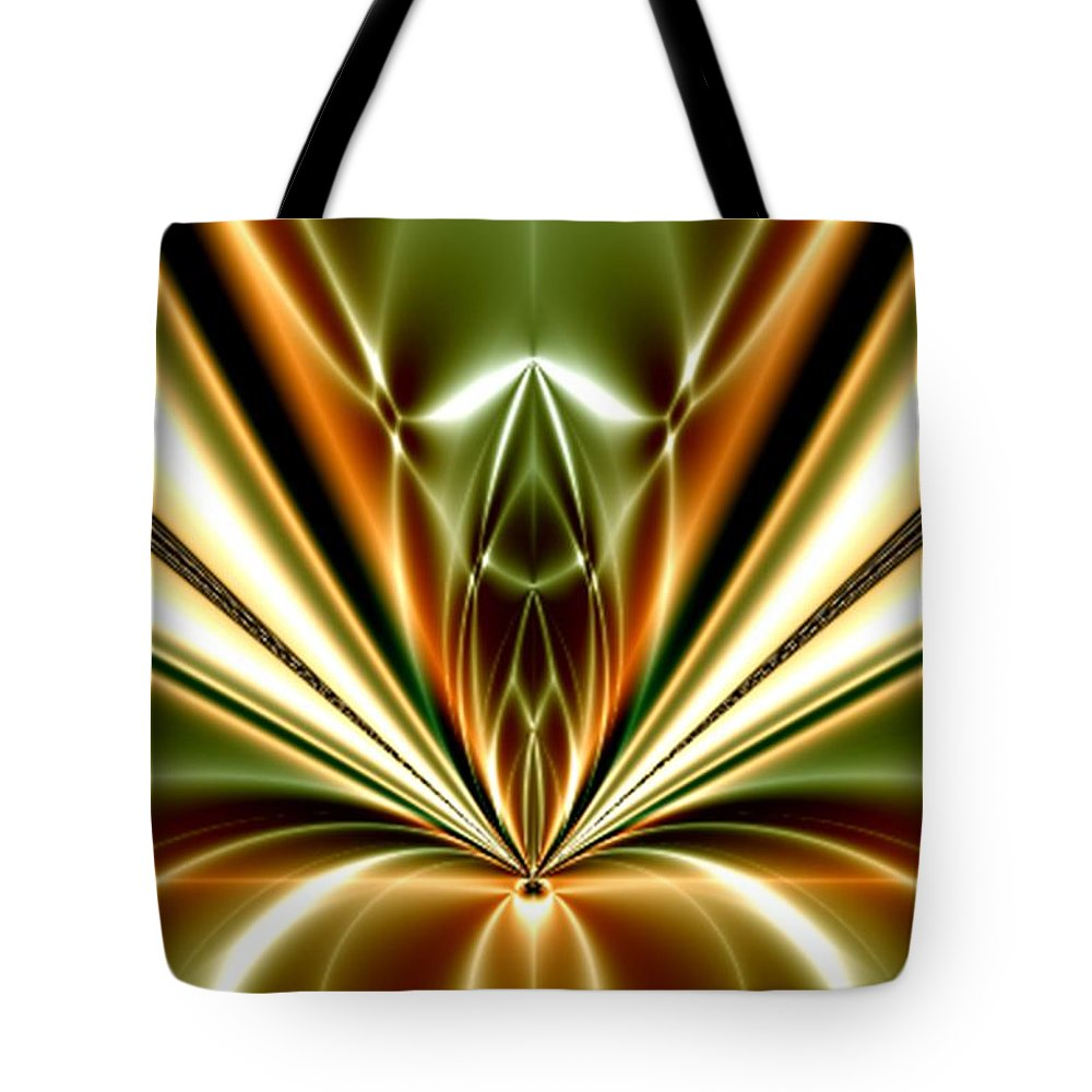 Liquid Reaction Digital Art Fractal Abstract Art Painting Photo Canvas Print Frame Art William Ballester Tote Bag featuring the digital art Liquid Reaction by William Ballester