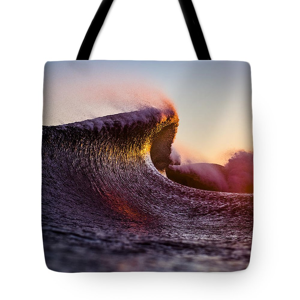 Liquid Tote Bag featuring the photograph Liquid Sculpture by Ryan Moore