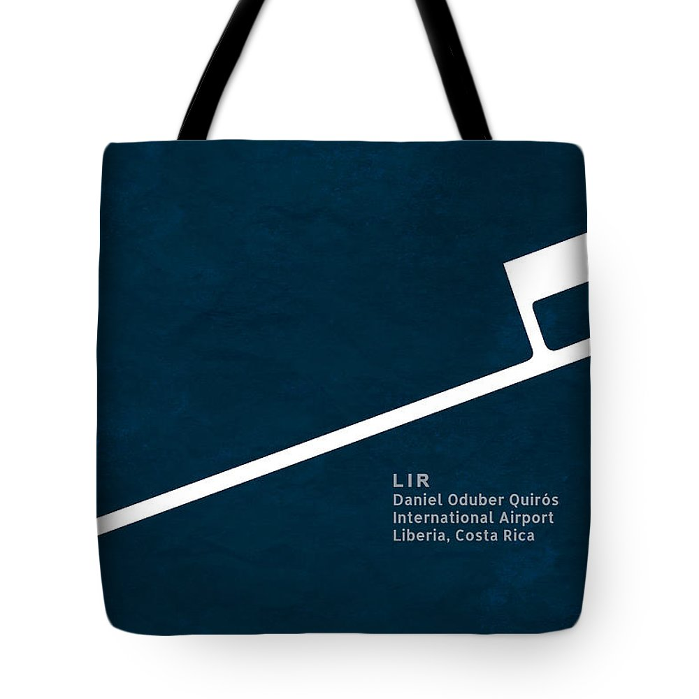 Silhouette Tote Bag featuring the digital art Lir Daniel Oduber Quiros International Airport In Liberia Costa by Jurq Studio