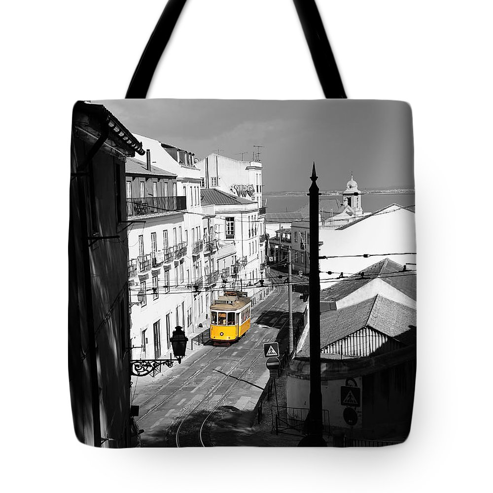 Trolley Tote Bag featuring the photograph Lisbon Trolley 17c by Andrew Fare