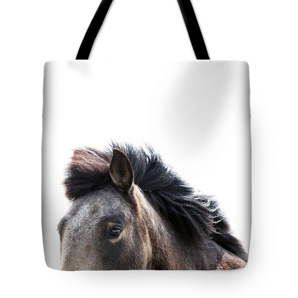 Wild Mustang Tote Bag featuring the photograph Listen by Jae Feinberg