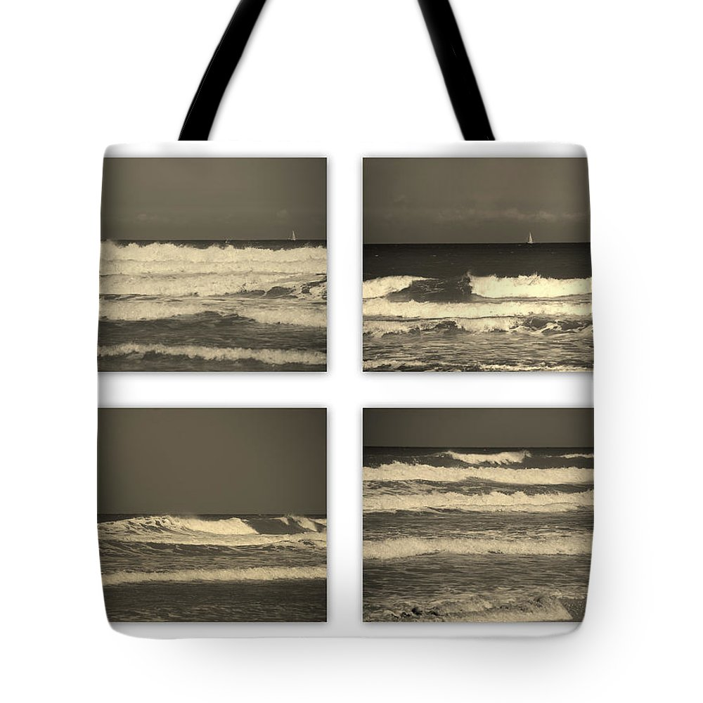 Waves Tote Bag featuring the photograph Listen To The Song Of The Ocean by Susanne Van Hulst