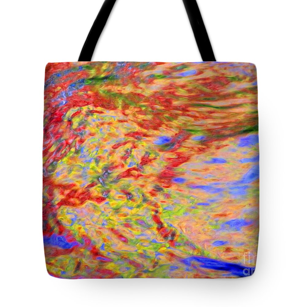 Abstract Tote Bag featuring the photograph Listening To The Water by Sybil Staples