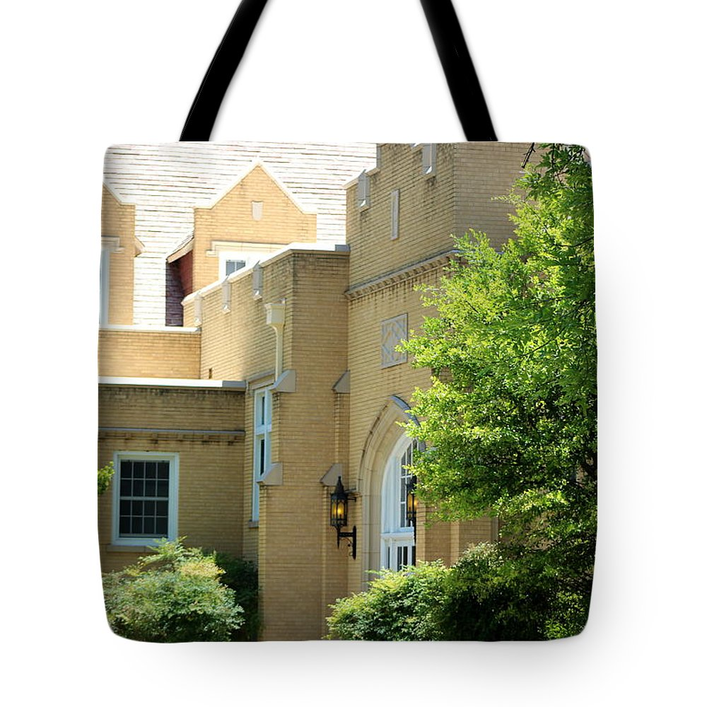New Mexico Tote Bag featuring the photograph Lit Wall Lights in Landscape by Colleen Cornelius