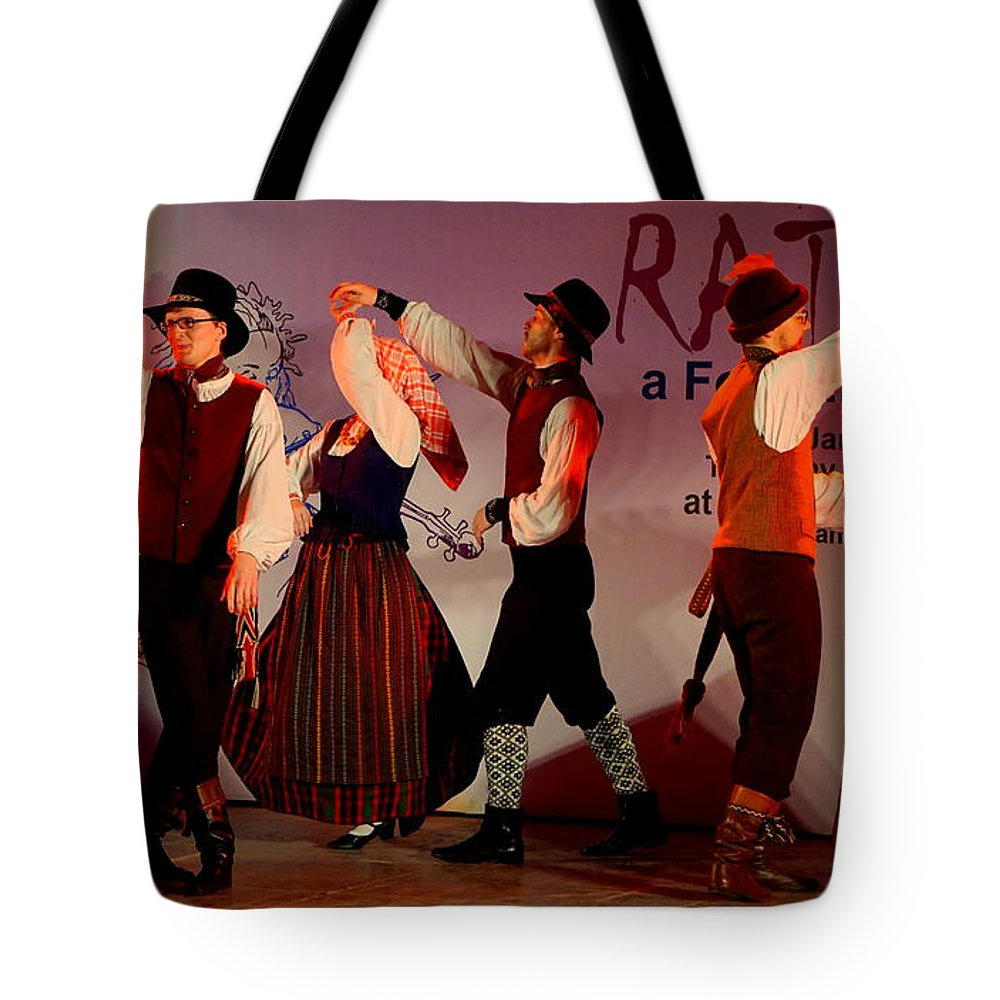 Lithuanian Folk Dance Tote Bag featuring the photograph Lithuanian Folk Dance by Vijayan Madhavan