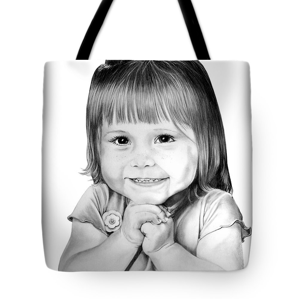 Child Tote Bag featuring the drawing Little Bailey by Murphy Elliott