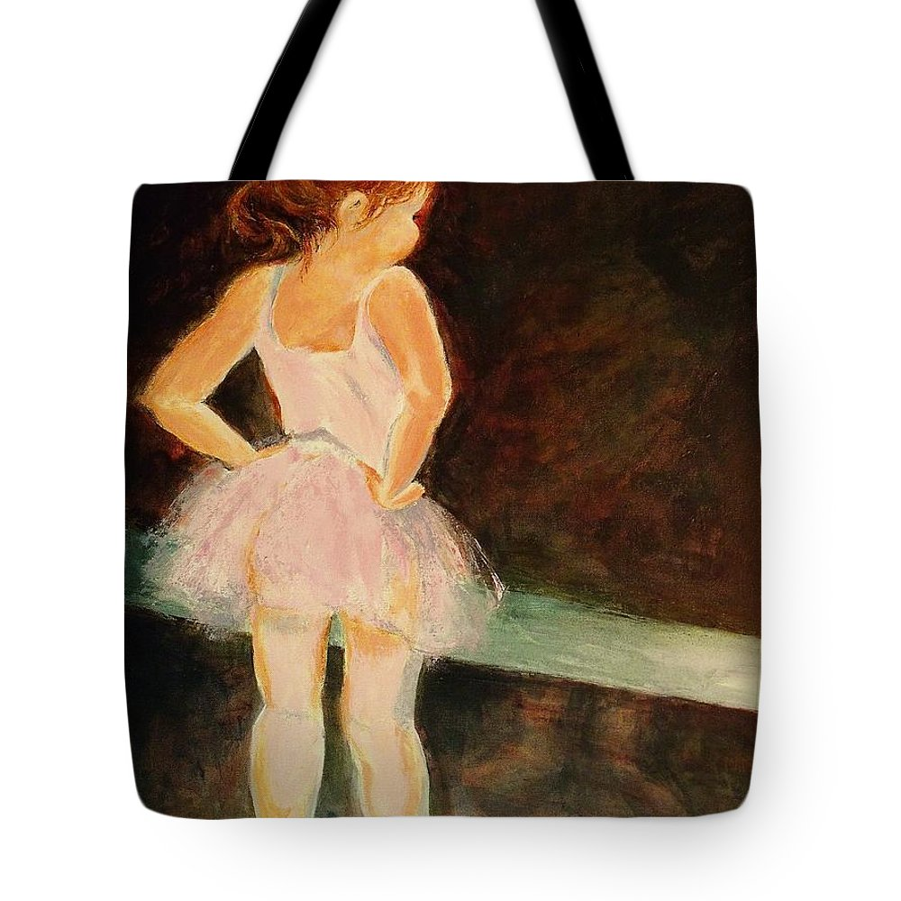 Ballerina Tote Bag featuring the painting Little Ballerina by Madeleine Holzberg