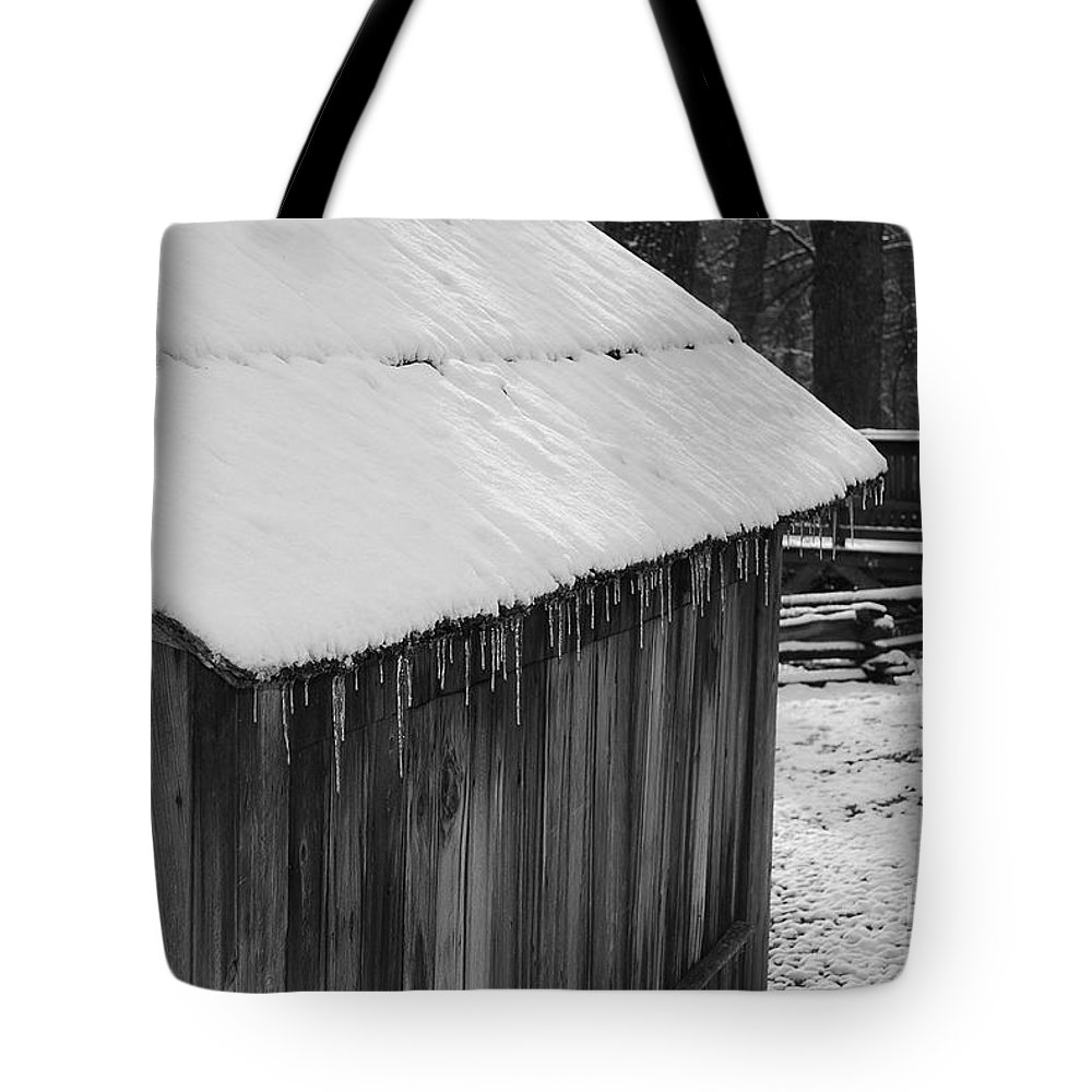 Landscape Tote Bag featuring the photograph Little Brown Shed by Eric Liller