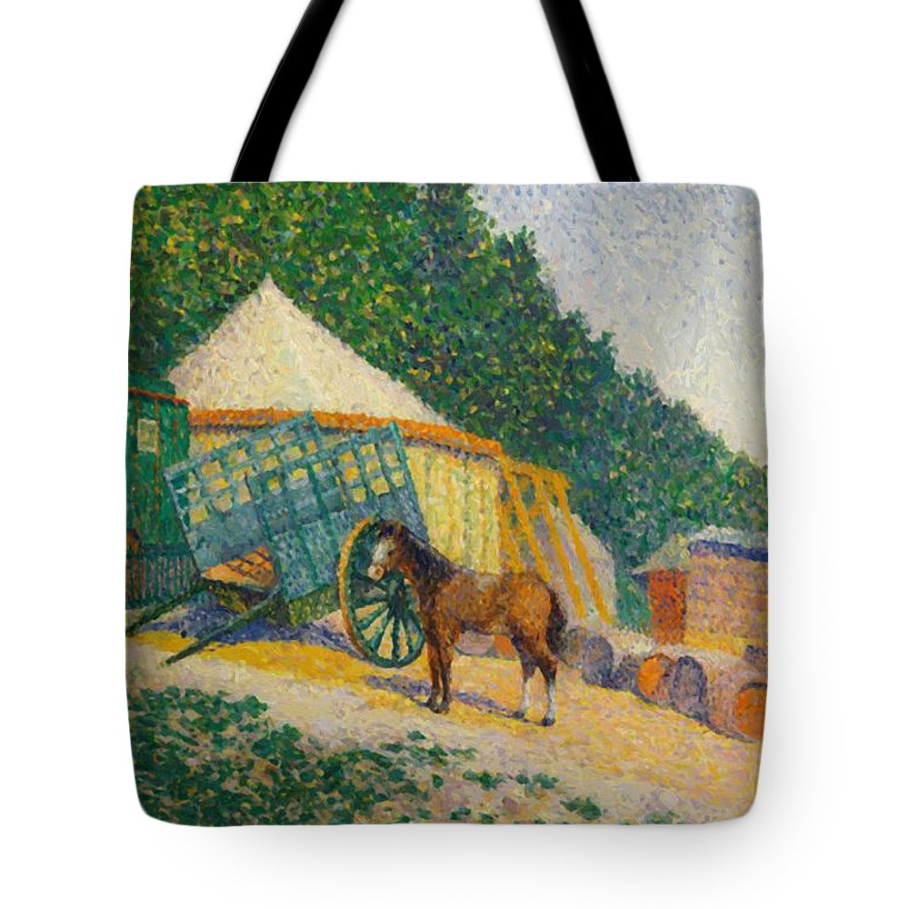 Little Tote Bag featuring the painting Little Circus Camp by DuboisPillet Albert
