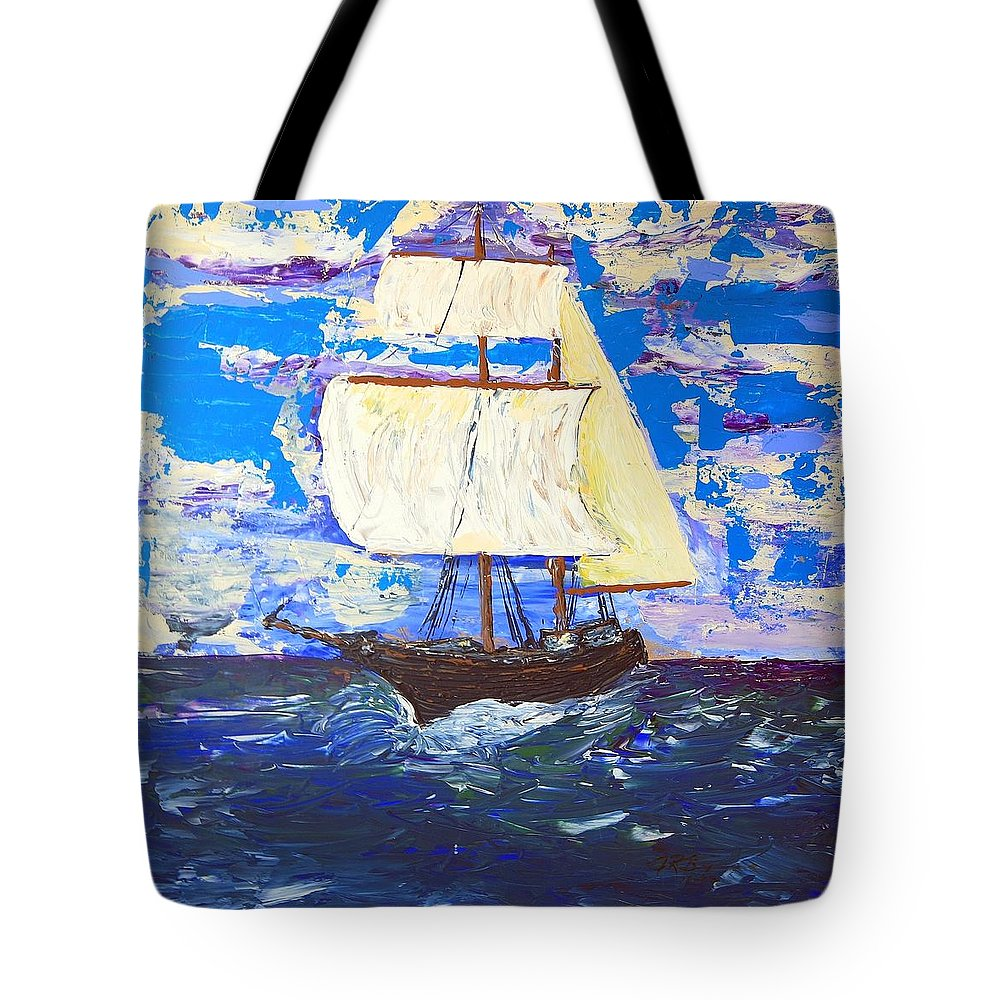 Clipper Tote Bag featuring the painting Little Clipper by J R Seymour