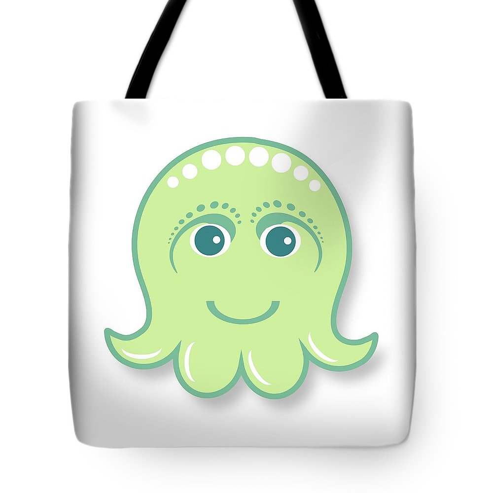 Octopus Digital Art Tote Bags