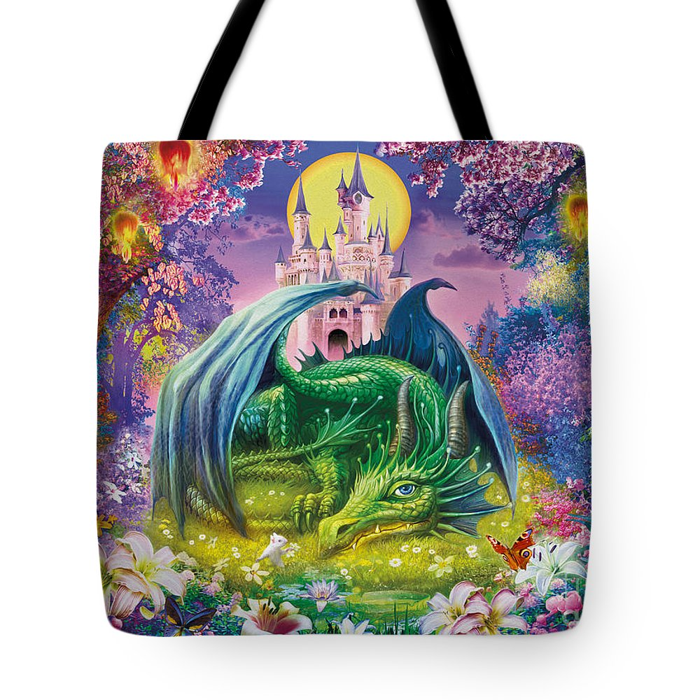 Jan Patrik Krasny Tote Bag featuring the digital art Little Dragon by MGL Meiklejohn Graphics Licensing