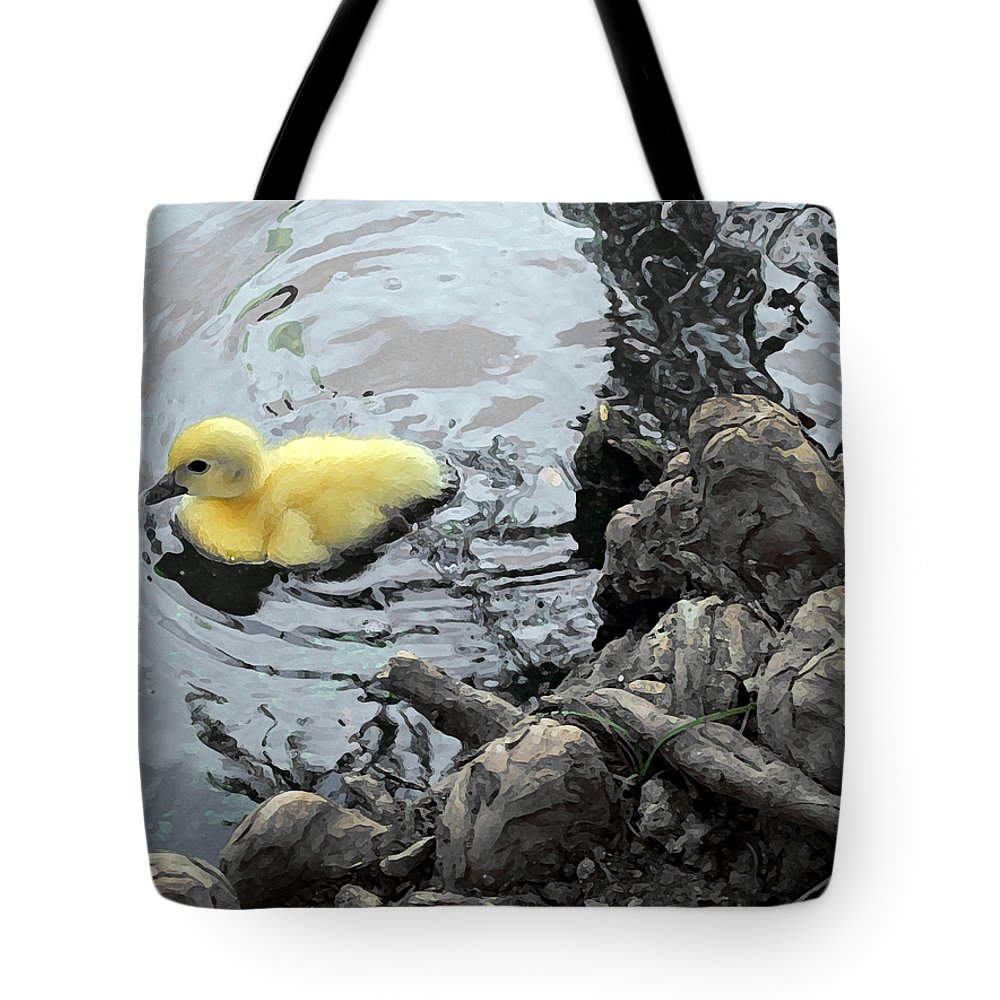 Duck Tote Bag featuring the photograph Little Ducky 2 by Angelina Vick