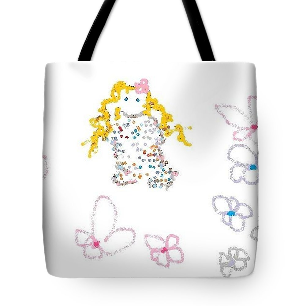 Little Flower Troll Tote Bag featuring the photograph Little Flower Troll by Maria Joy
