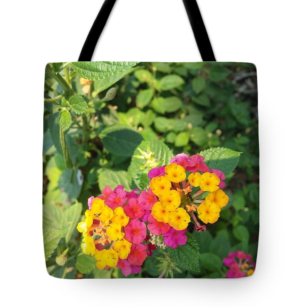 Tote Bag featuring the photograph Little Flowers by Gianelle Louise Cervantes