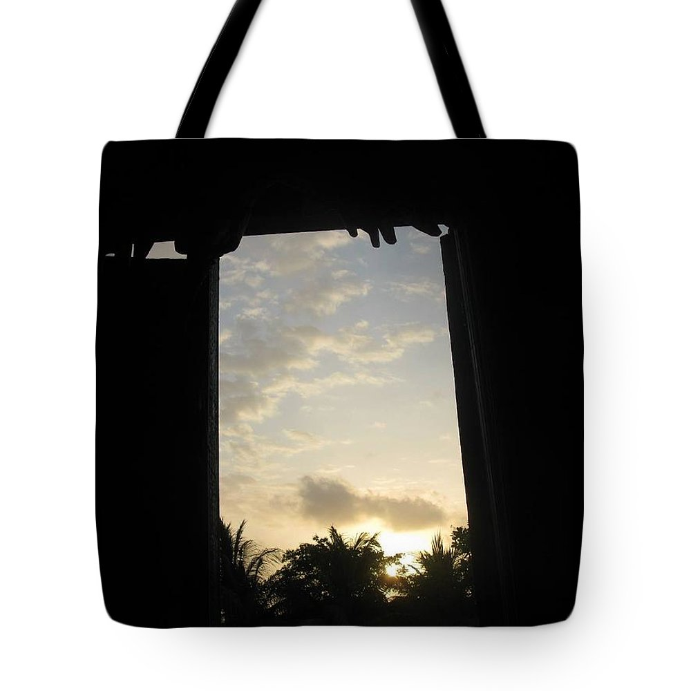 Artistry Tote Bag featuring the photograph Little Girl Whom Dreams Out A Window by Becky Haines