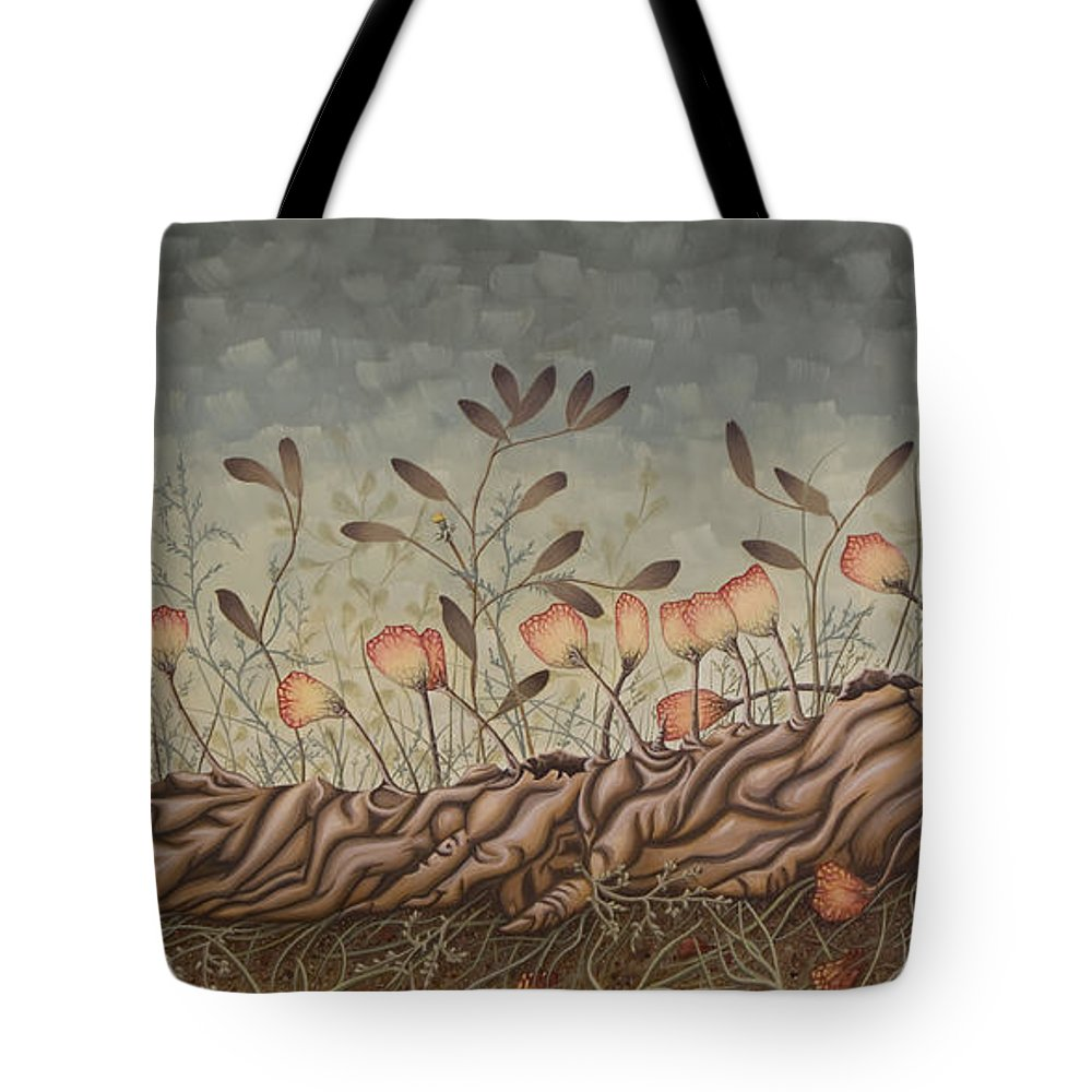 Sex Tote Bag featuring the painting Little Gods by Judy Henninger