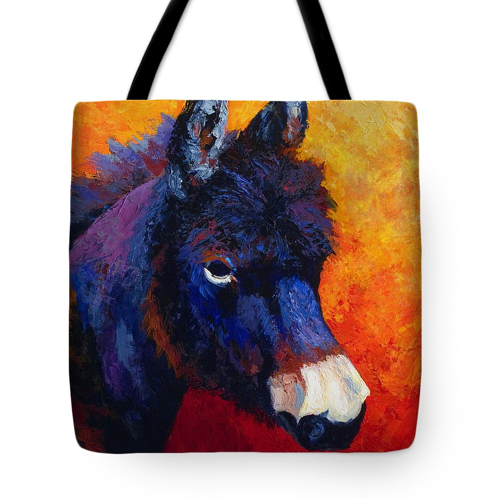 Burro Tote Bag featuring the painting Little Jack - Burro by Marion Rose