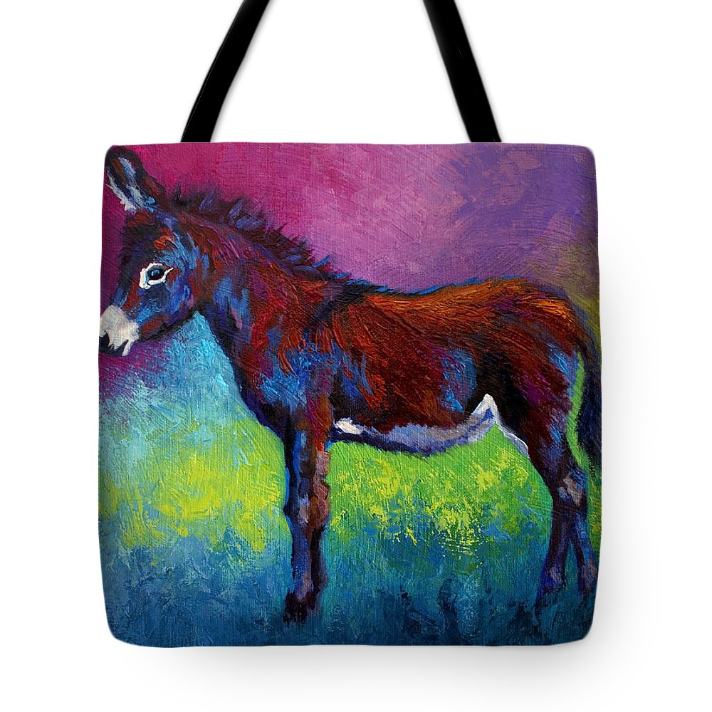 Burro Tote Bag featuring the painting Little Jenny by Marion Rose