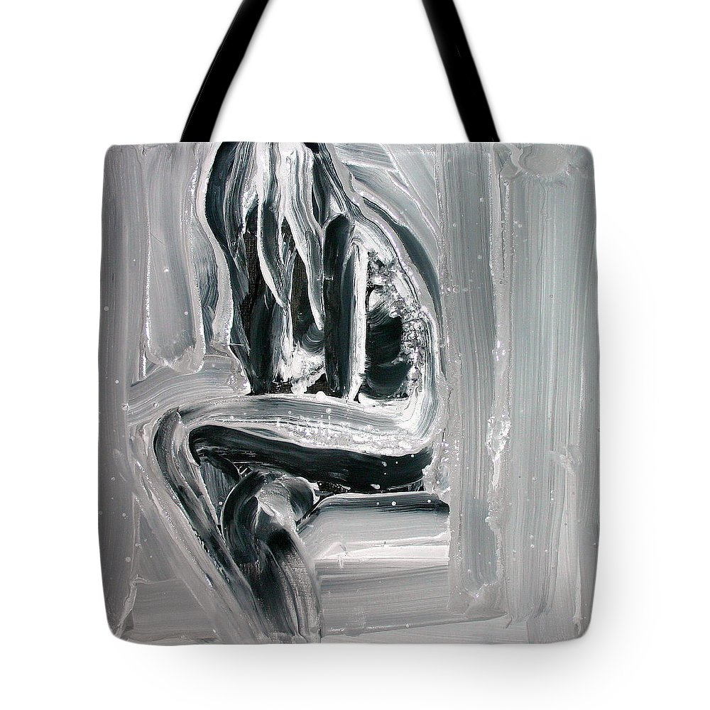 Beautiful Tote Bag featuring the painting Little Mermaid by Jarmo Korhonen aka Jarko