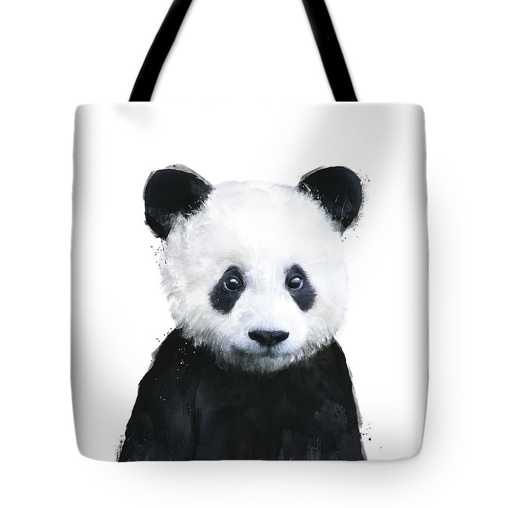 Panda Tote Bag featuring the painting Little Panda by Amy Hamilton