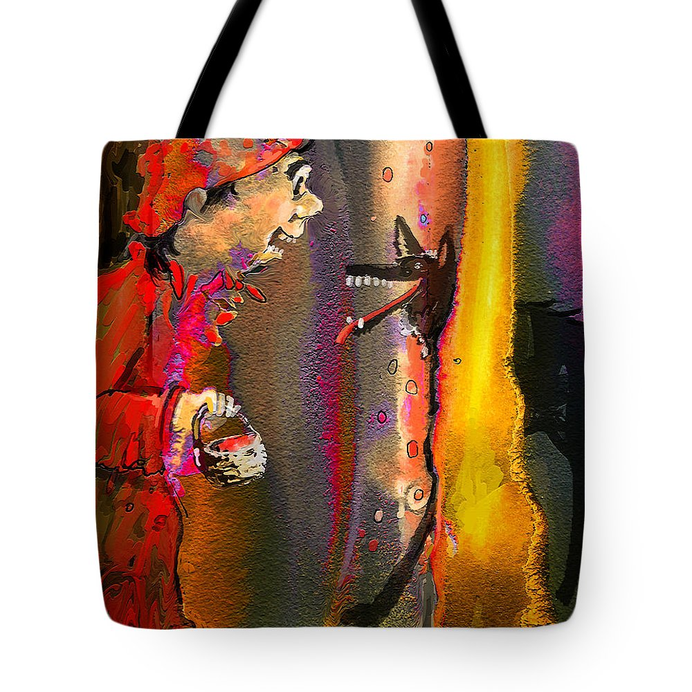 Fairy Tales Art Tote Bag featuring the painting Little Red Riding Hood by Miki De Goodaboom