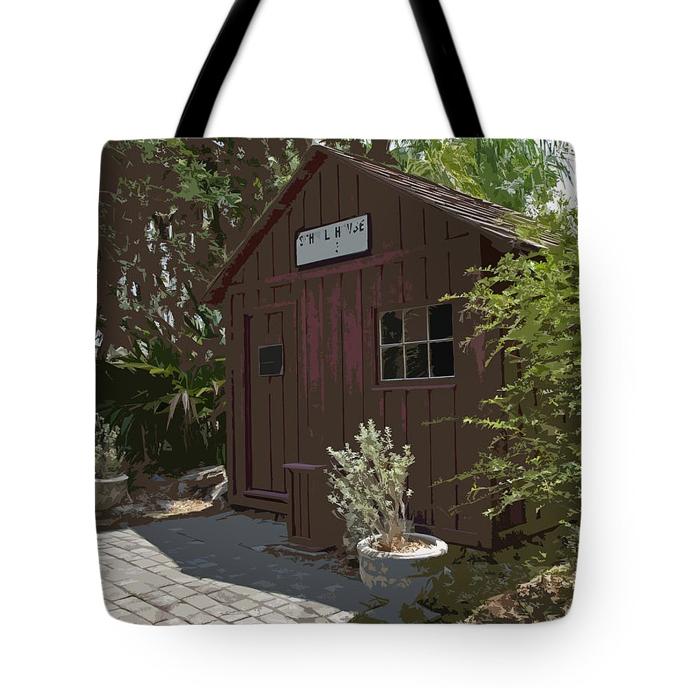 Little Tote Bag featuring the painting Little Red Schoolhouse Two by Allan Hughes