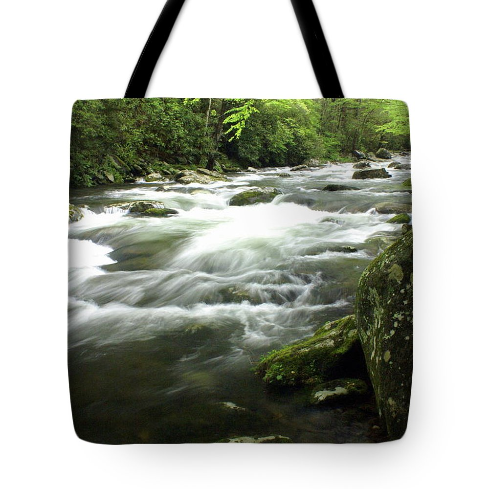 Little River Tote Bag featuring the photograph Little River 3 by Marty Koch