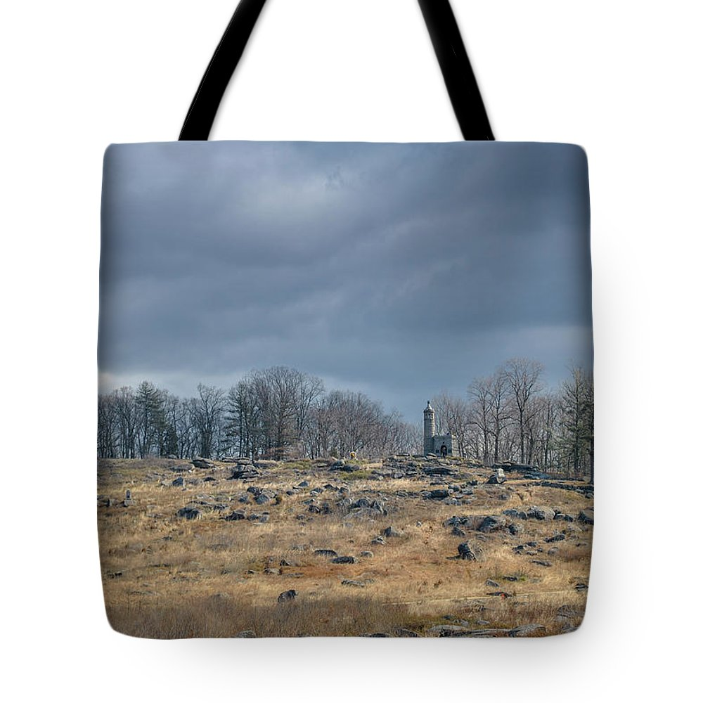 Gettysburg Tote Bag featuring the photograph Little Round Top by Jen Goellnitz
