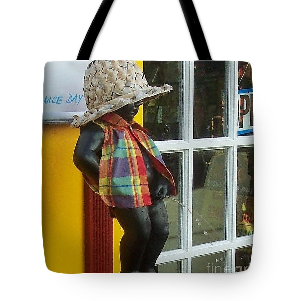 Fountain Tote Bag featuring the photograph Little Wiz by Debbi Granruth