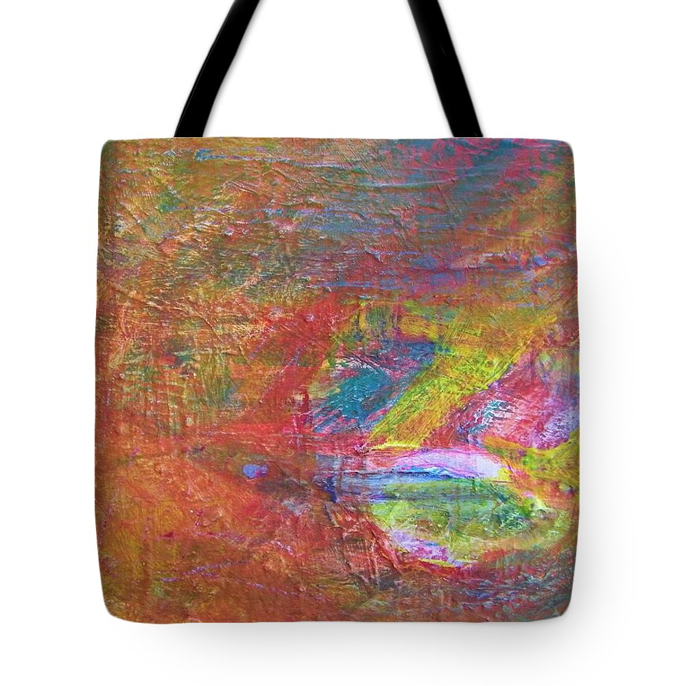 Abstract Tote Bag featuring the painting Live Fish In The Ocean by Judith Redman