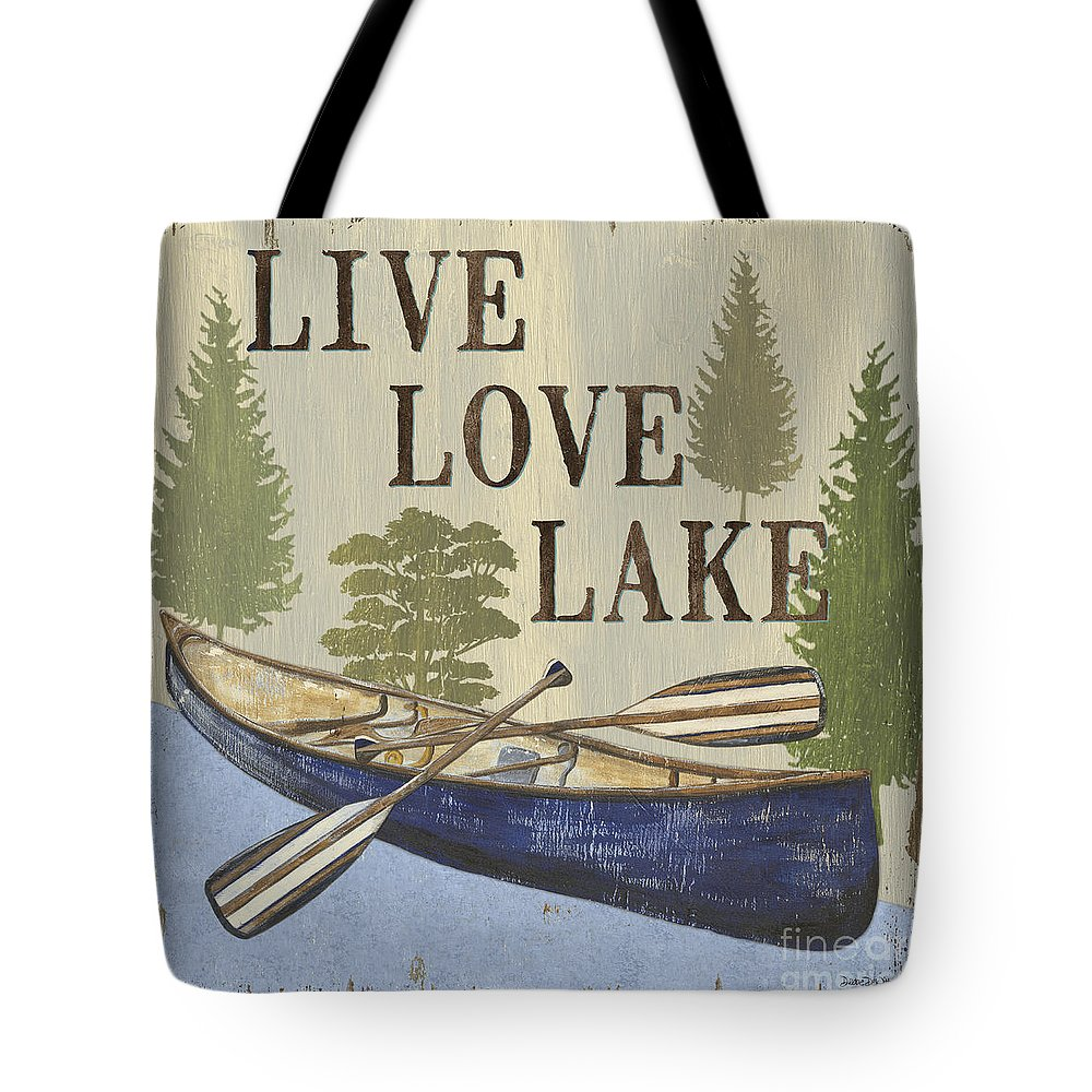 Lake Tote Bag featuring the painting Live, Love Lake by Debbie DeWitt