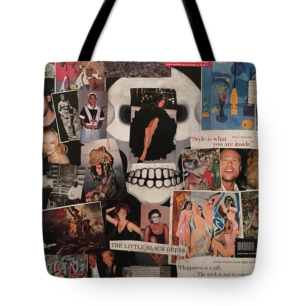 Collage Tote Bag featuring the painting Live by Mike King