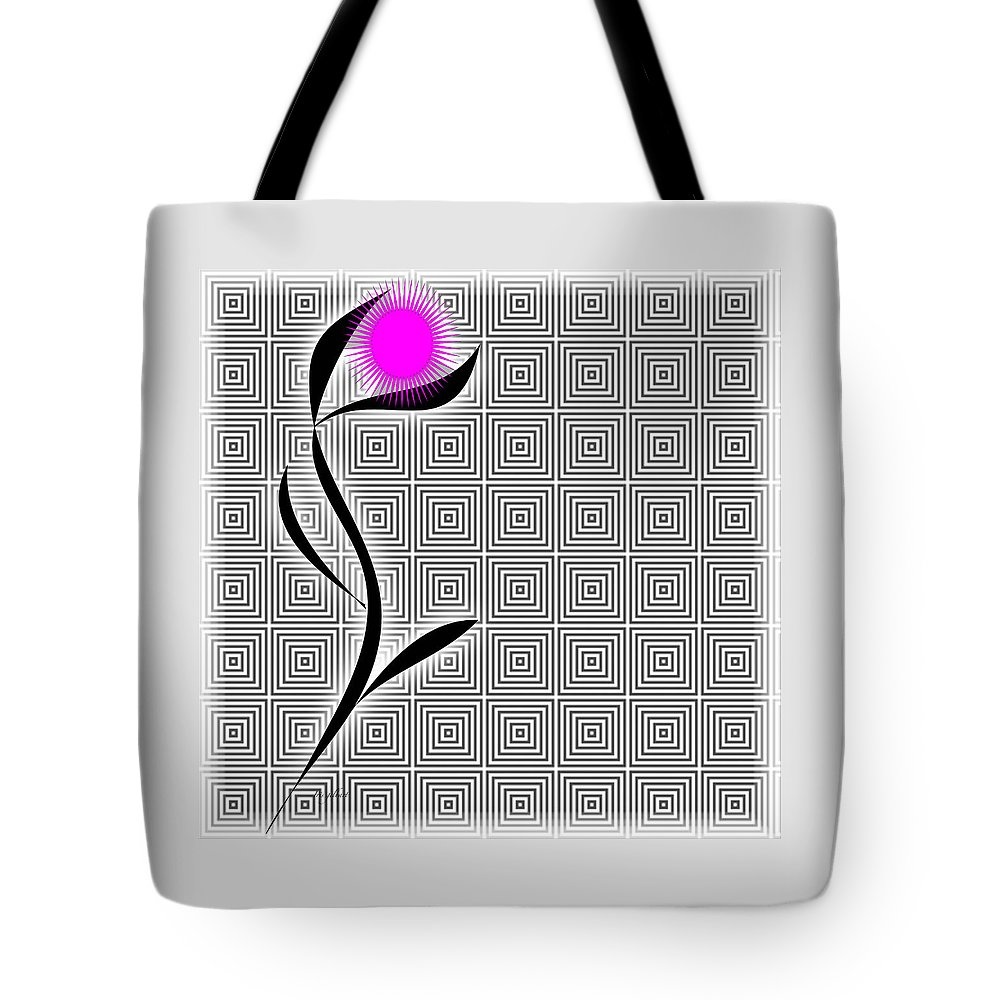 Abstract Tote Bag featuring the digital art Live Well by Iris Gelbart