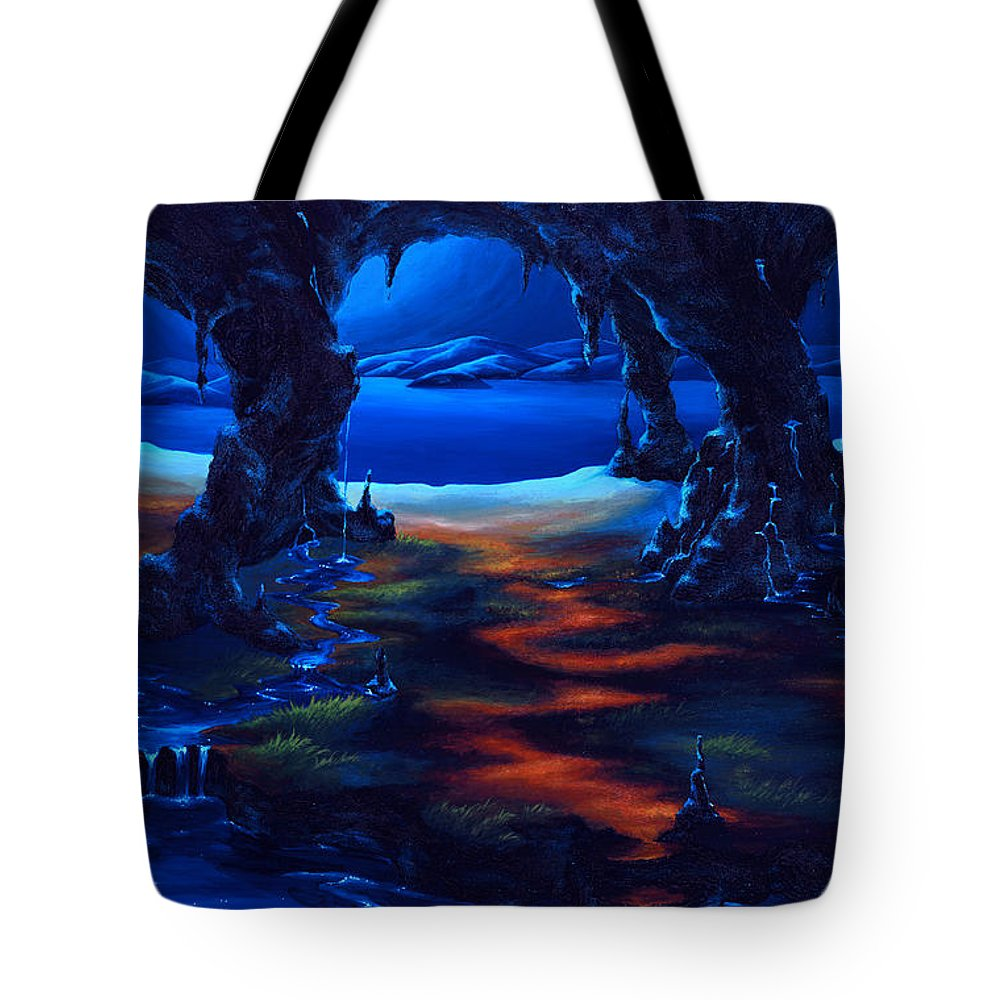 Textured Painting Tote Bag featuring the painting Living Among Shadows by Jennifer McDuffie