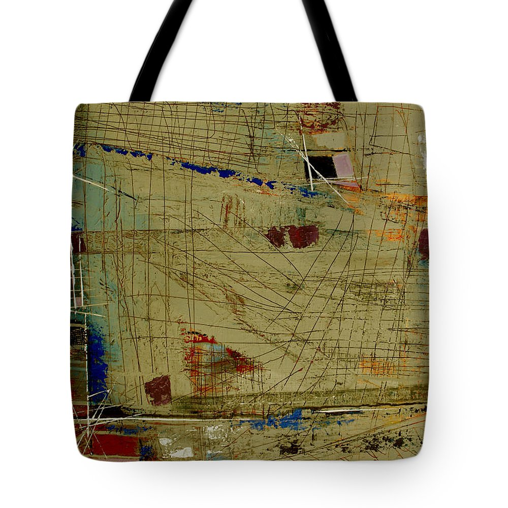 Abstract Tote Bag featuring the painting Living Dangerously by Ruth Palmer
