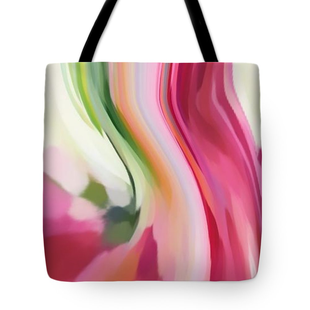 Living Energy Tote Bag featuring the digital art Living Energy by Dave Smith
